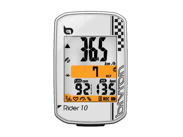Bryton Rider 10 E - Compteur sans fil - blanc